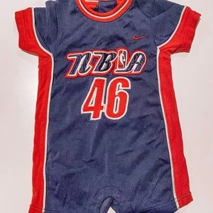6-9 month NBA Nike jumpsuit